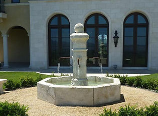 French Limestone-Fountain