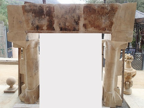 Antique Limestone Fireplace FPHD.1262