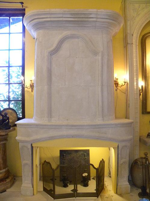 Antique Limestone Fireplace FPHD.1258