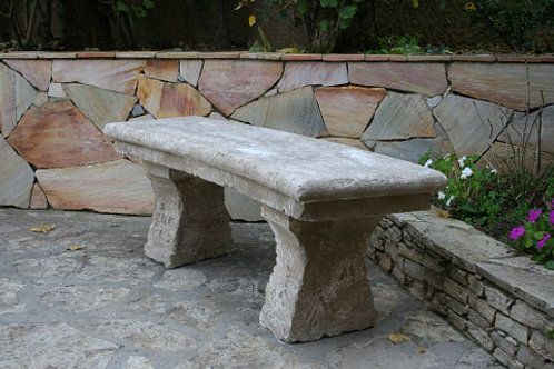 LIMESTONE BENCH FLORENTIN 120 CURVED