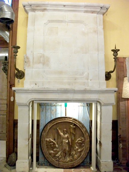 Antique Limestone Fireplace FPHD.1230