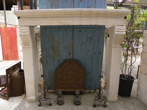 Antique Limestone Fireplace FPLH.1219