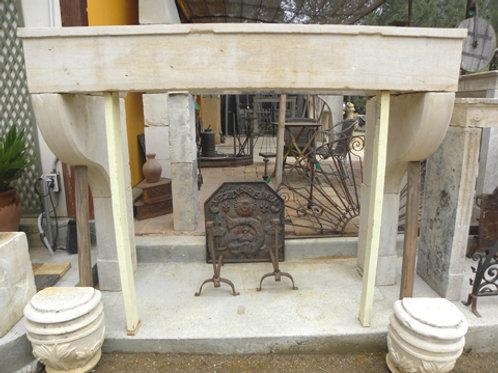 Antique Limestone Fireplace FPHD.1233