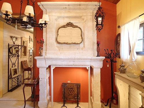 Antique Limestone Fireplace FPHD.1232