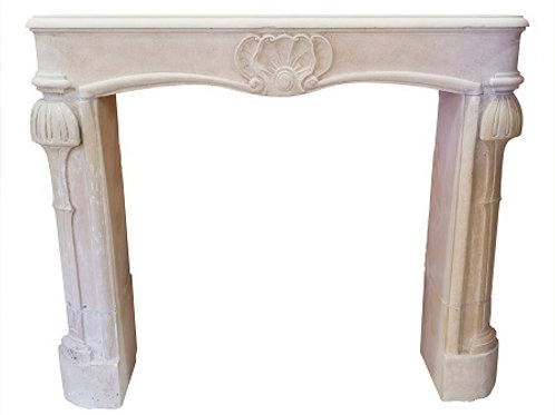 Antique Limestone Fireplace FPHD.1284