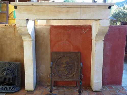 Antique Limestone Fireplace FPHD.1202