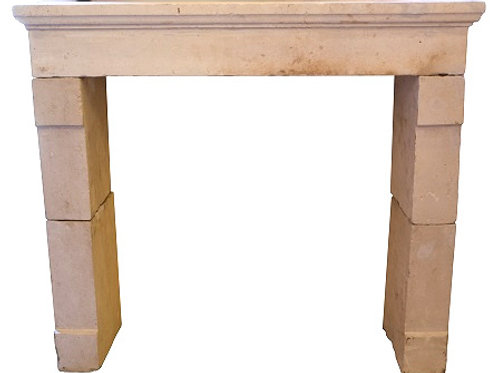 Antique Limestone Fireplace FPHD.1290