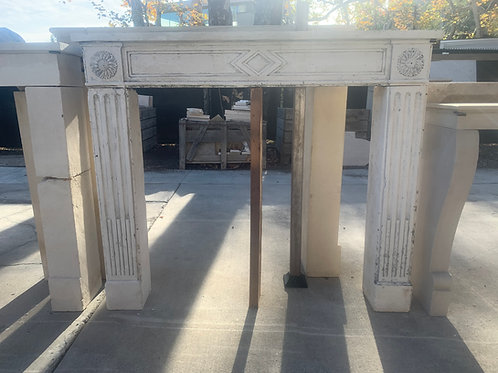 Antique Limestone Fireplace FPHD.1206