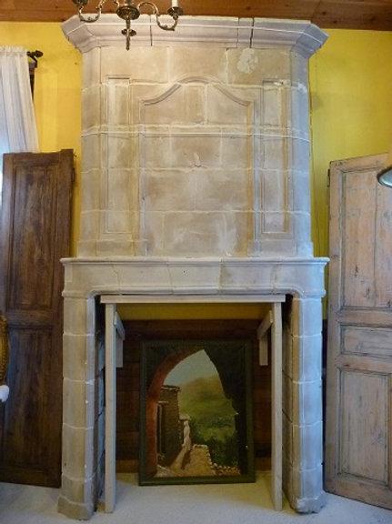 Antique Limestone Fireplace FPHD.1228