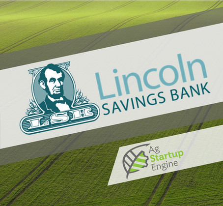 PRESS: Lincoln Savings Bank Becomes Golden Grade Sponsor To Ag Startup Engine