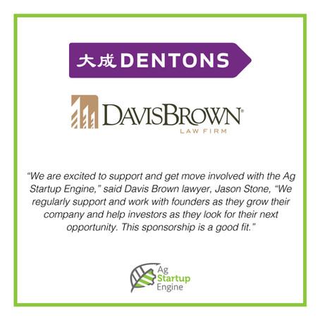 Davis Brown Law Firm Becomes Golden Grade Sponsor to Ag Startup Engine