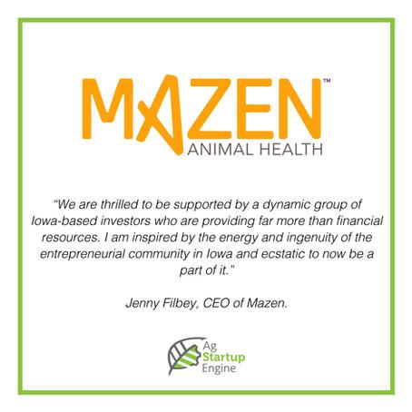 PRESS: Ag Startup Engine Accepts Mazen Animal Health Into Startup Program