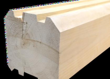 Брус профилированный 100х150х6000 мм, естественной влажности, профиль Шип-Паз