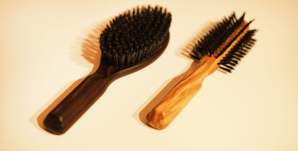 Hair Brush (olive wood / heat treated wood)