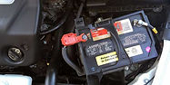 Vehicle battery inspection and change