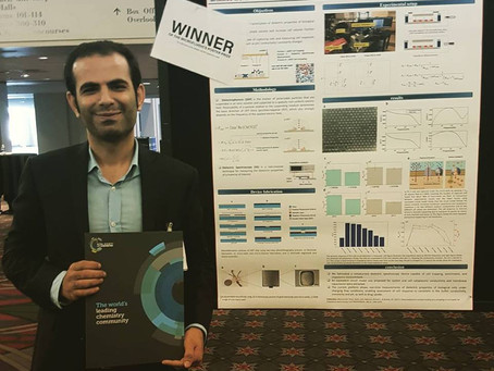 Amin Mansoorifar received the best poster award at Microfluidics congress, Philadelphia