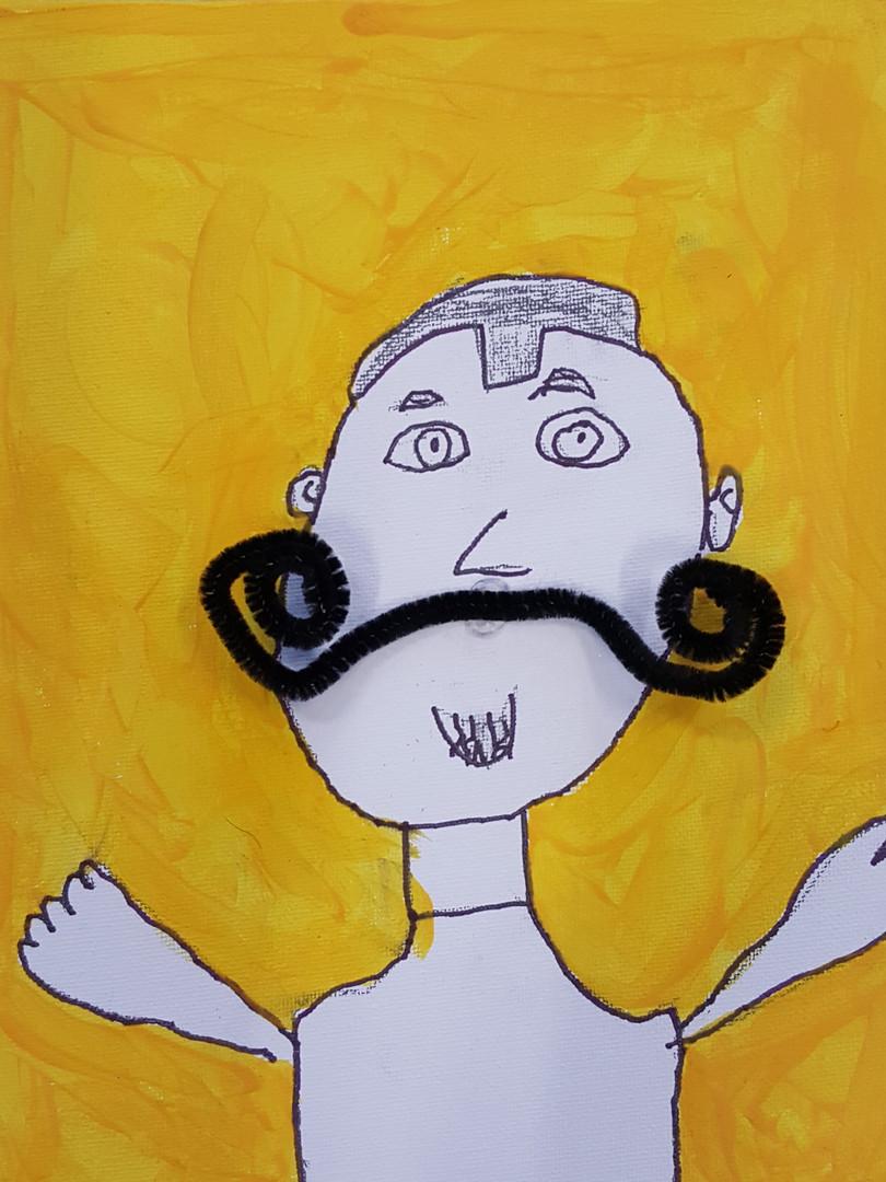 Dali inspired self portrait yellow - Cop