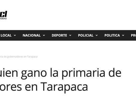 Conoce quien ganó la primaria de gobernadores en Tarapacá