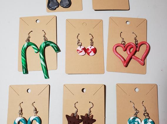 Various polymer clay earrings