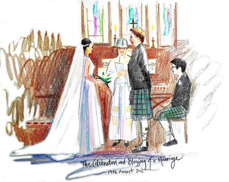Website live sketch wedding order of ser