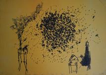 Cluster of flies