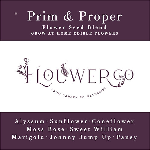 Wholesale - Prim & Proper - Grow at Home Seed Bag - Case of 8 Seed Bags