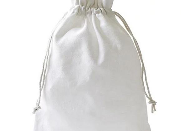 SMILE Säckchen aus Baumwolle, weiß