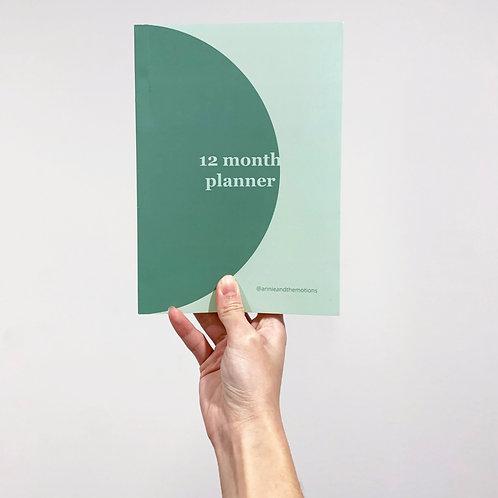 12 Month Planner (undated)
