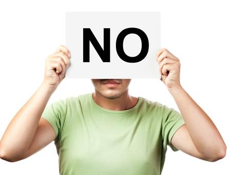 Saying 'NO'