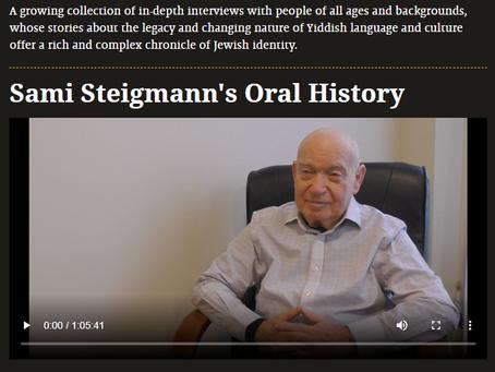 Sami Steigmann's Oral History