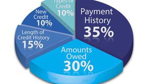What determines my credit score?