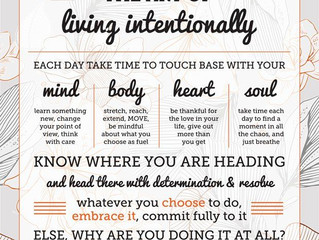 The Art of Living with Intent