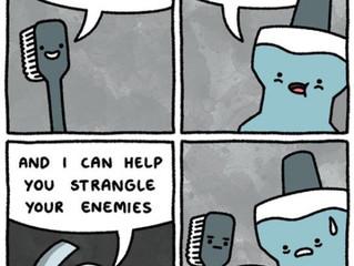 Floss is tough!