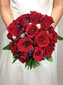 Red Garden Rose Bouquet flower-patch-wedding | bridal bouquets