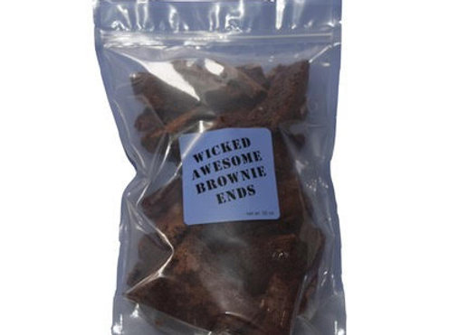 2 LB Bag of Brownie Ends/ Includes Shipping