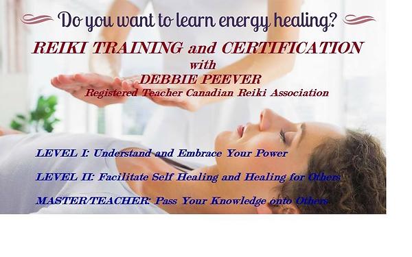 Reiki Training and Certification Debbie
