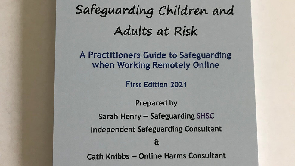 Practitioners Guide to Safeguarding when working Online/Remotely