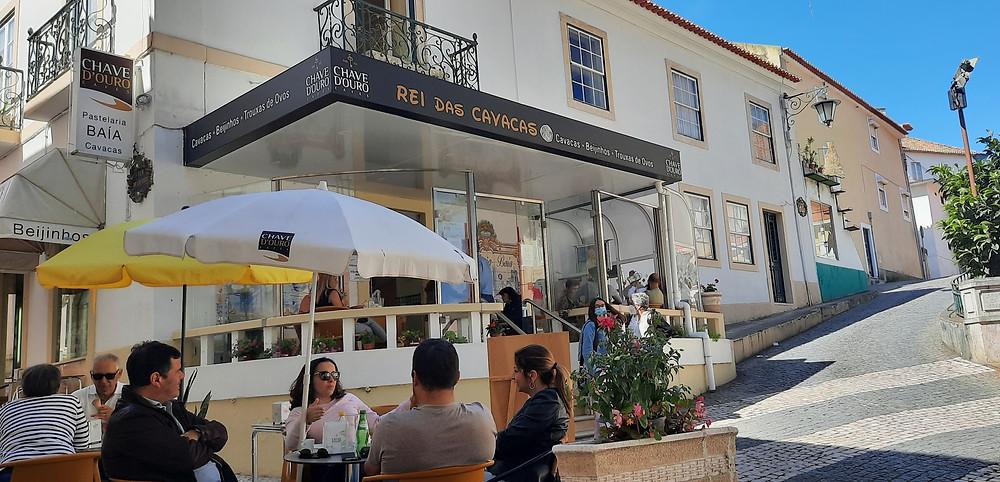 Outdoor café in Caldas da Rainha Portugal