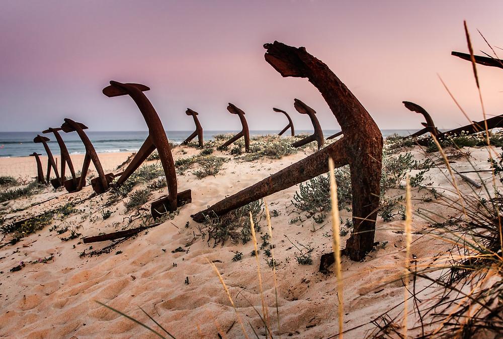 Anchor Cemetery at Barril beach