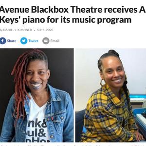 Avenue Blackbox Theatre receives Alicia Keys' piano for its music program