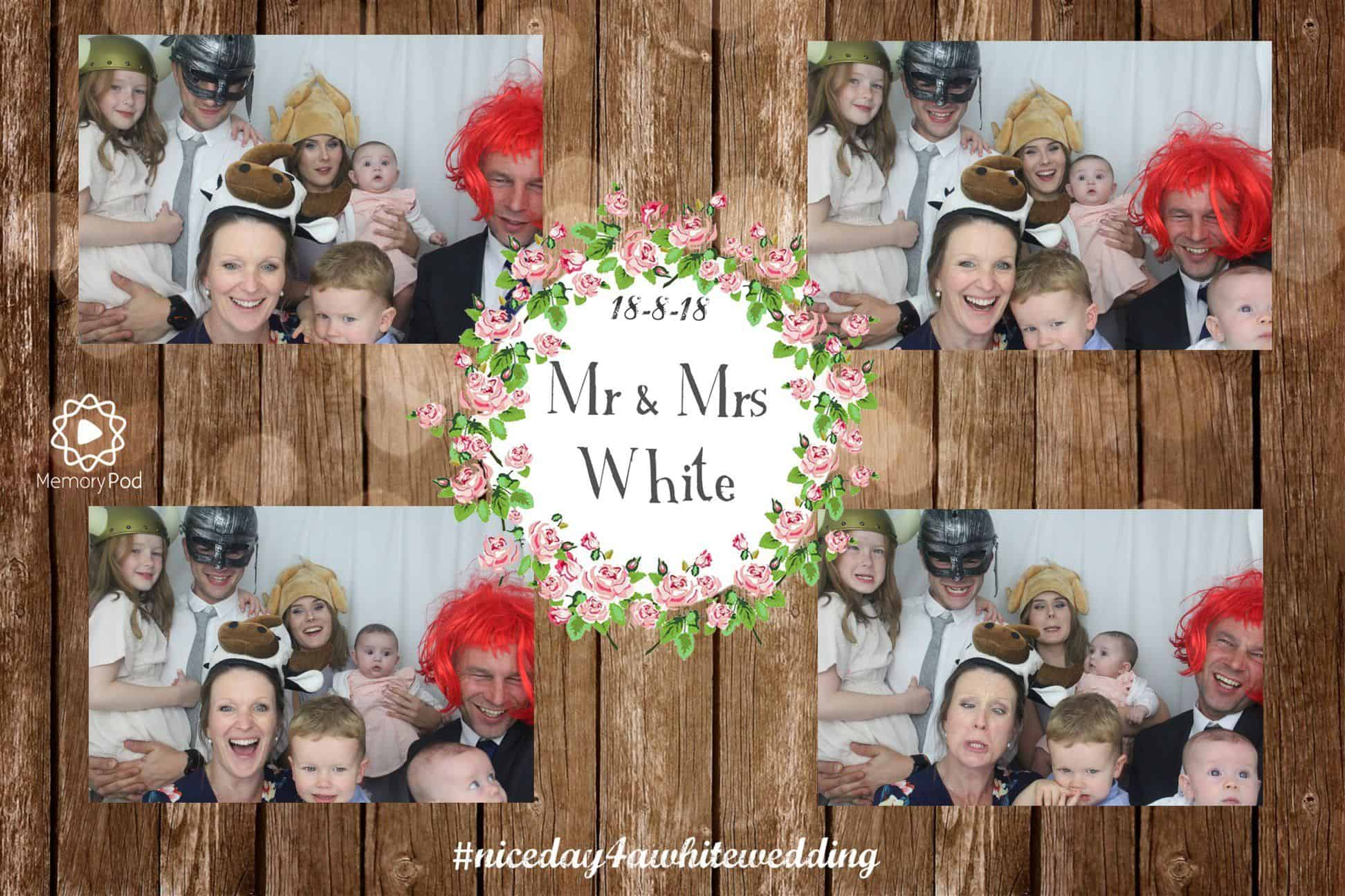 Mr and Mrs White Wedding