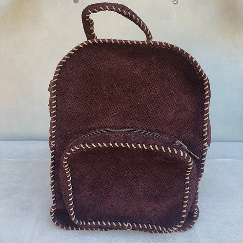 Backpack Small - Brown Grid