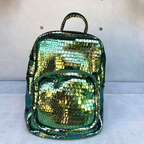 Backpack Small - Shiny Green