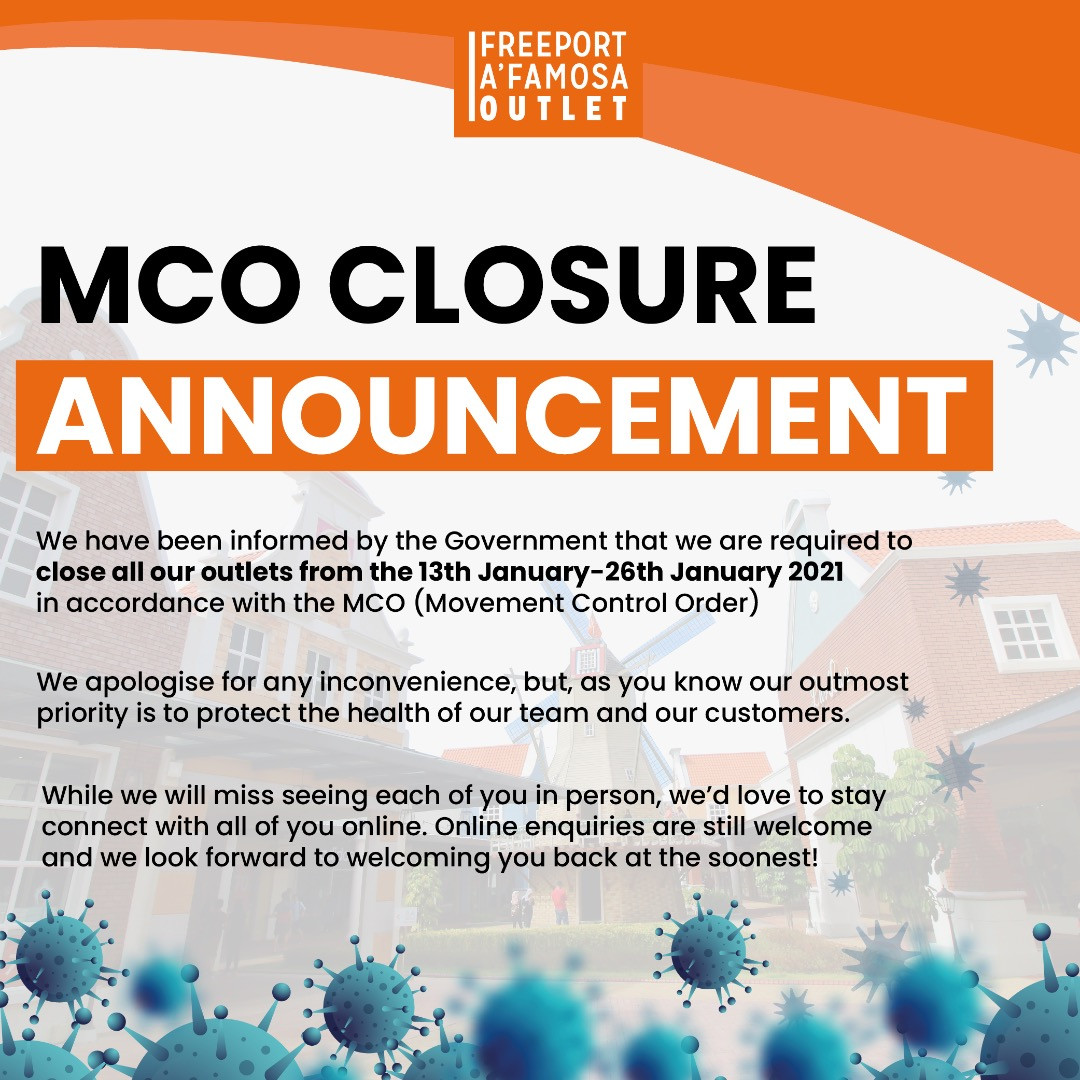 MCO Closure Announcement