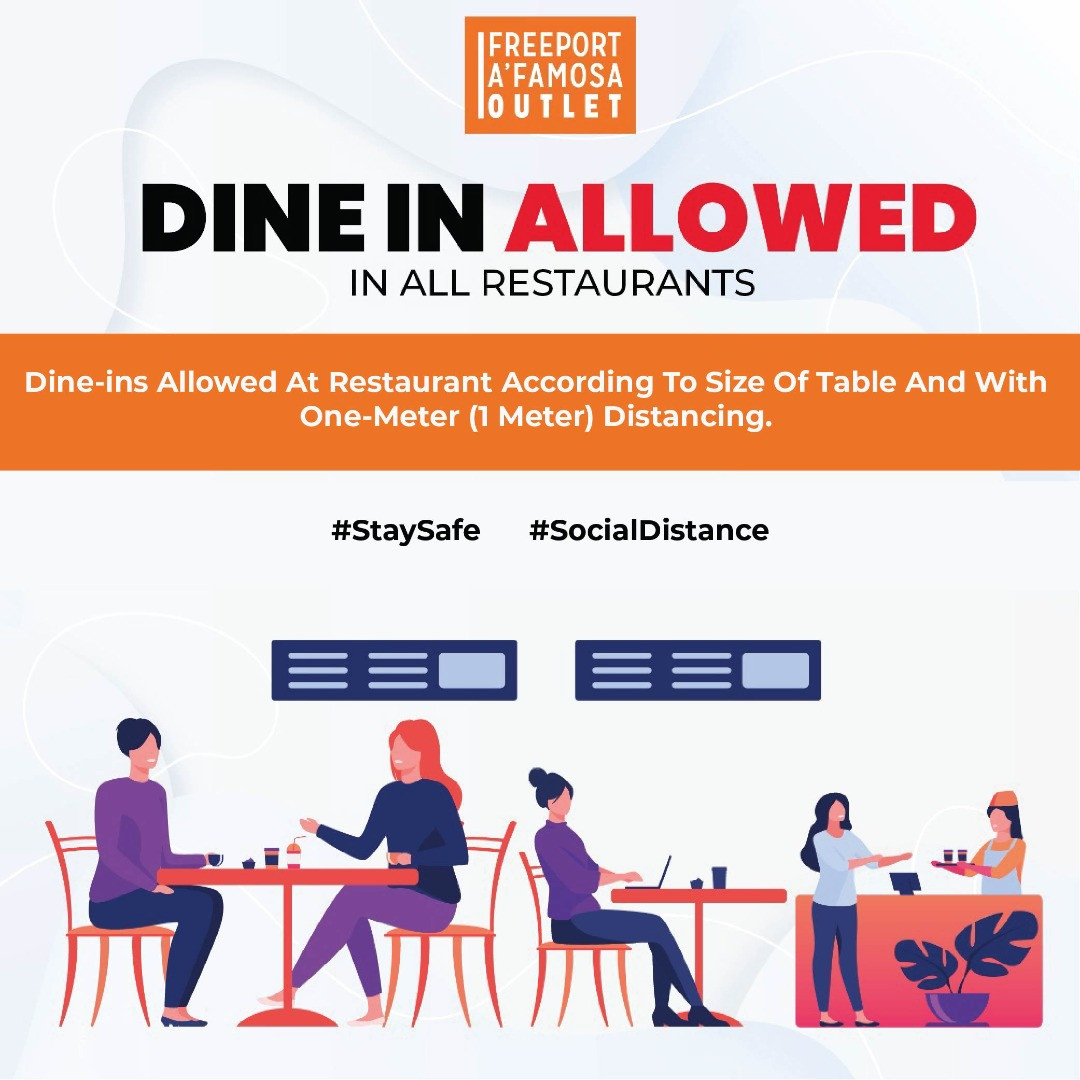 Dine IN Allowed