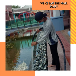 we clean the mall daily