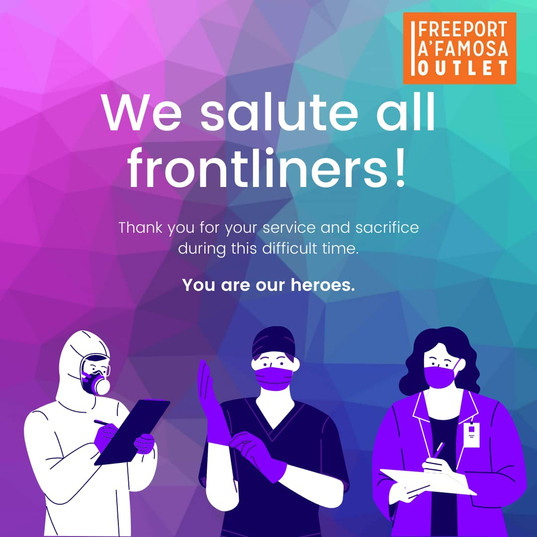 We Salute All Frontliners