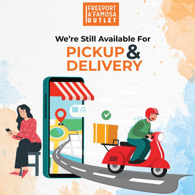 We are still available for PICKUP & DELIVERT