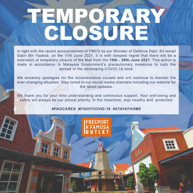 Temporary Closure during FMCO