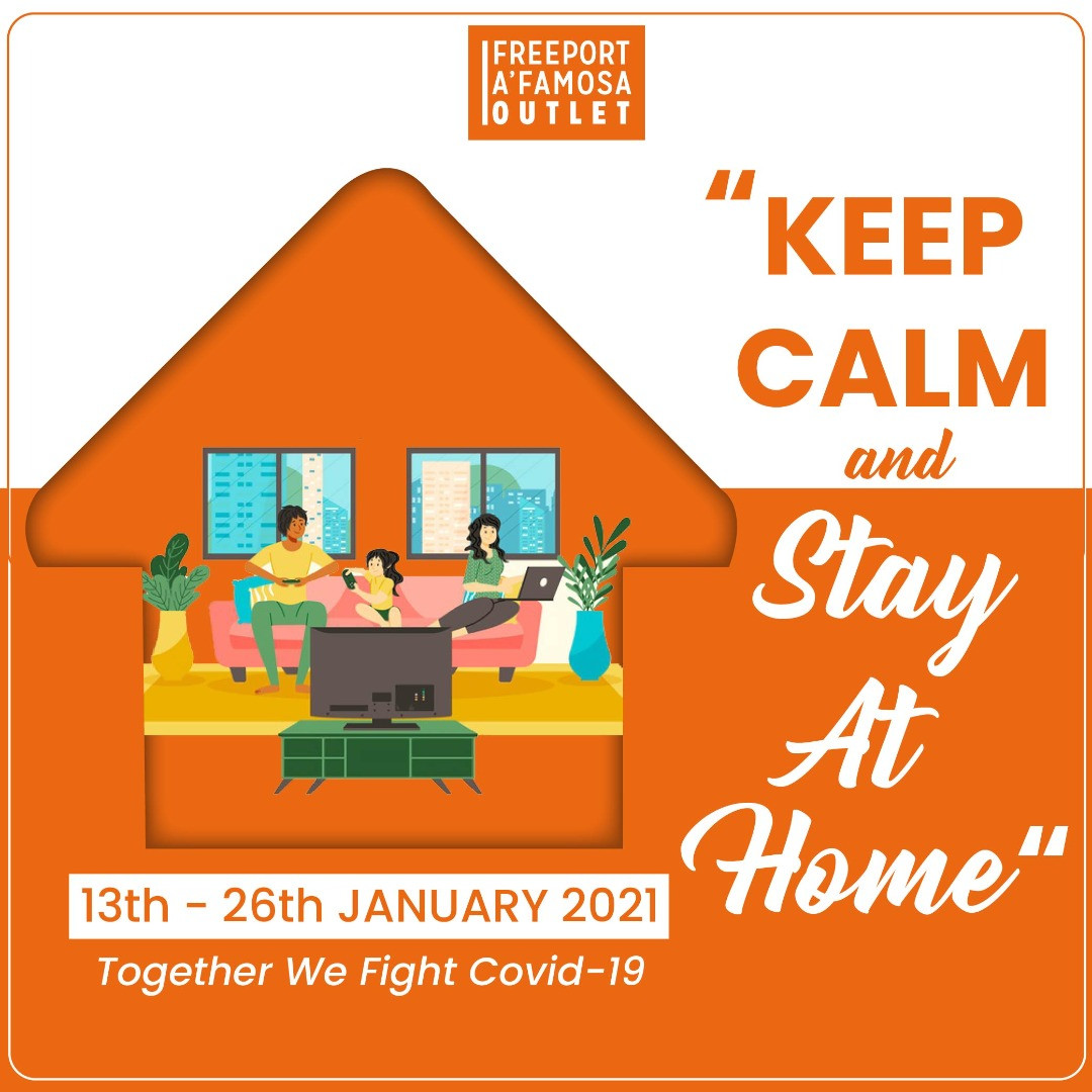 Keep calm & Stay at HOME